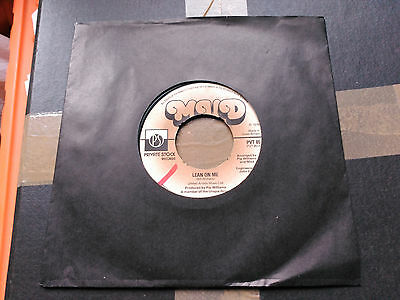 Single Mud - Lean On Me - Private Stock Uk 1976 Vg+