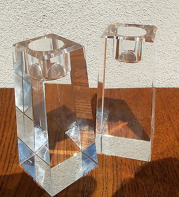 Candlestick Holders Oleg Cassini Crystal