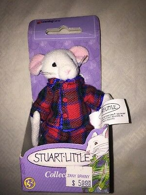 """1999 Learning Curve STUART LITTLE Poseable Plush Doll, Columbia Pictures 4.5"""""""