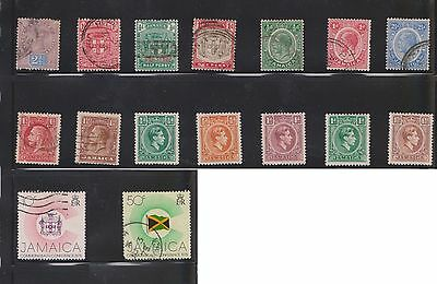 (U13-13) 1889-1960 Jamaica mix of 48stamps values to 2/- (A)