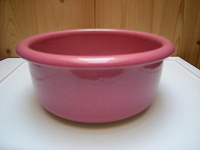 Brothers Potteries PINK POTTERY BOWL Made in Canada Norwich Ontario