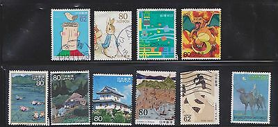 (U13-20) 1980-2009 Japan mix of 25stamps value to 80Y (E)