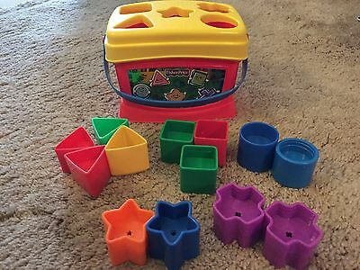 Shape Sorter Fisher Price 13 Shapes, Baby Toddler Learning Fun