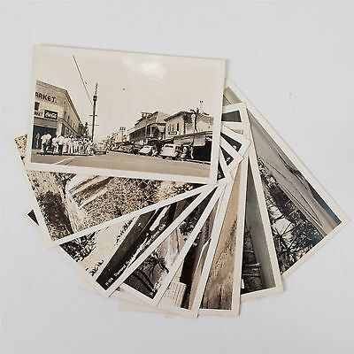 Lot of 8 WWII 1940s Real Photo Postcards RPPC Hawaii Kodak USN Navy Unposted
