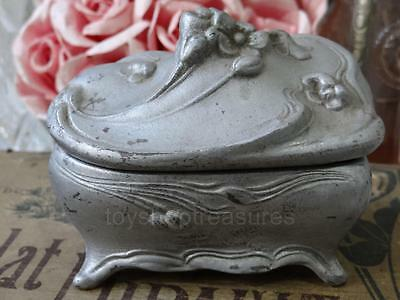 Antique Vintage Art Nouveau TRINKET Box - Jewellery - Ornate Metal Box