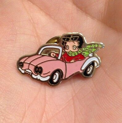 Vtg Betty Boop In Convertible Comic Cartoon Strip Lapel Hat Tie Pin
