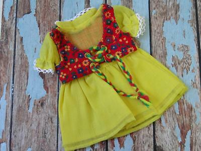 Vintage Chrissy Crissy Velvet Doll Dress - LEMON HANG UP  - Cricket Mia