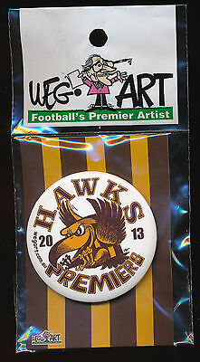 2013  Hawthorn Hawks Premiers Weg Pin Badge in unopened packet