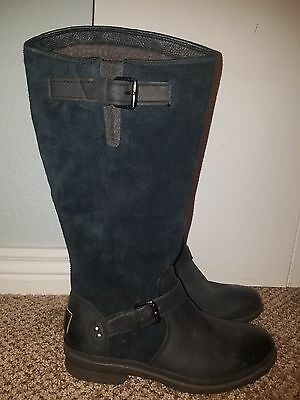 Details zu UGG THOMSEN 1005268 WATERPROOF TALL BOOTS LEATHER SUEDE Stout Brown size 5
