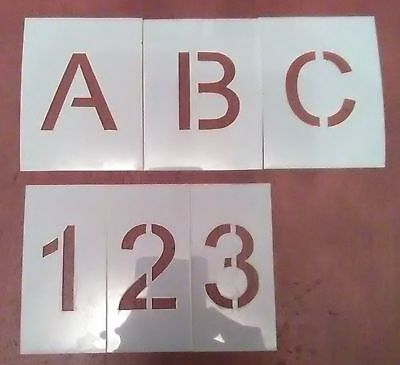 2 inch Uppercase Arial Alphabet And Number Set Stencil - Letters - Parking Lot -