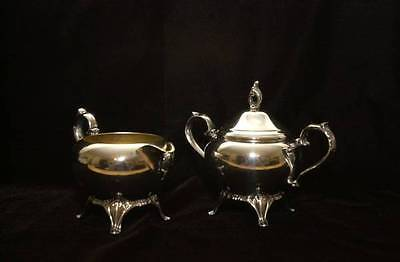 Silver plated Creamer and Covered Sugar Bowl