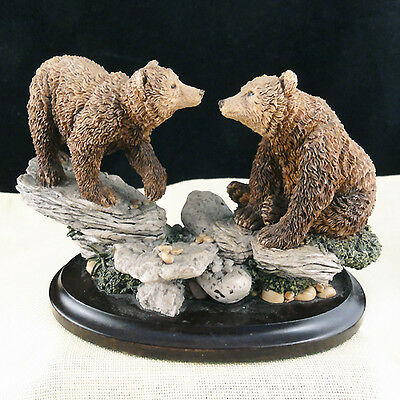 "BEARS PAIR 3.75"" tall Country Artists England NEW NEVER SOLD porcelain"