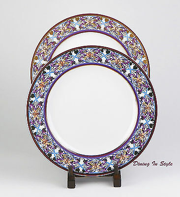 RARE! Set of 2 Dinner Plates, Excellent! Sari, American Atelier, At Home, 5376