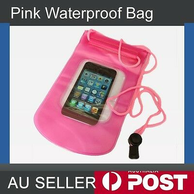 Pink Waterproof Pouch Drg Bag  Case Protector for Mp3 Cell Mobile phone Wallet
