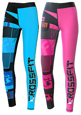 FDX Womens Compression Tights, pants, Running,Training,Yoga,Gym Base Layer Skins