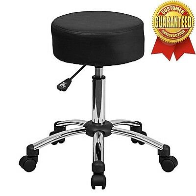 Medical Chair Exam Stool Adjustable Hydraulic Equipment Doctor Office Black New