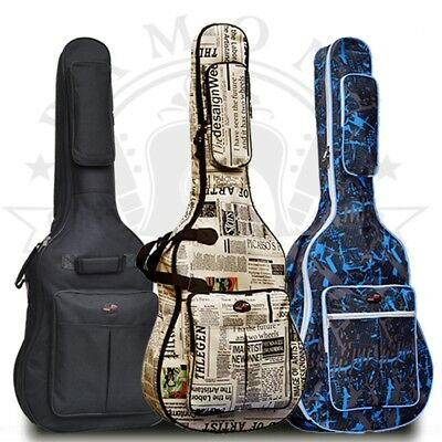 "2017 41"" Guitar Folk Acoustic Guitar Gig Bag Soft Case Strap Padded Waterproof"