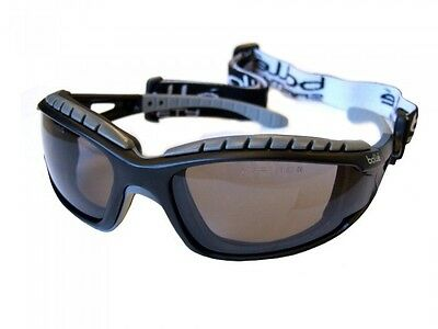 Bolle Tracker II SMOKE Safety Glasses Goggles Anti Mist & Scratch FREE Case