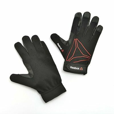 Reebok Full Finger Functional Gloves Weight Lifting Training Gym Strap Exercise