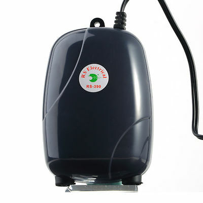 Aquarium Two Outlets Adjustable Air Pump 120 Gal 48GPH FREE P&P DISPATCHED 24HRS