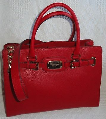 e5714aa3f909 MICHAEL KORS HAMILTON E/W Tech Tote Red GEORGEOUS !!! - $225.00 ...