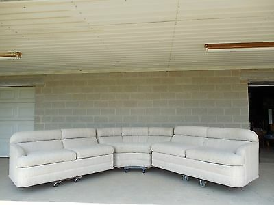 Vintage American of Martinsville Mid Century 3 pc Milo Baughman Era Sofa Set