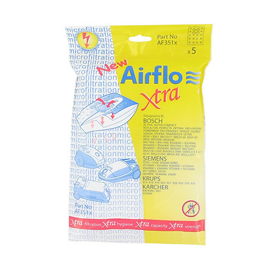 Airflo AF351X European Manufactured Bosch Activa/ Alpha/ Kids and Fun SMS Bags,