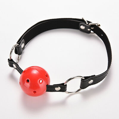 PU Leather Band Ball Mouth Gag Oral Fixation mouth stuffed Adult Games For Coupl