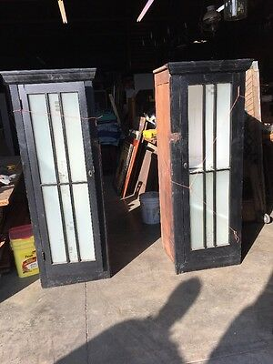 An 44 Match Pair  Antique Built In Bookcases