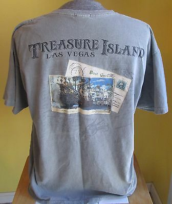 TREASURE ISLAND LAS VEGAS T-SHIRT, Size XL