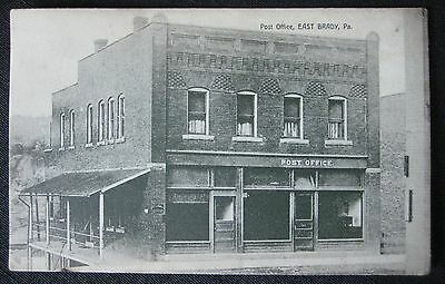 Antique 1909 East Brady PA Post Office Postcard~Mrs. L.B. Guth~Made in Germany