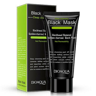 BIOAQUA Black Mud Face Mask Blackhead Remover Purifying peel-off Cleansing Acne