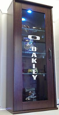 Deluxe LED Oakley sunglasses Display Case stand counter top fits16-24 shades