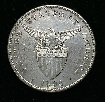 1904s Peso US-Philippines  Silver Coin - lot#18