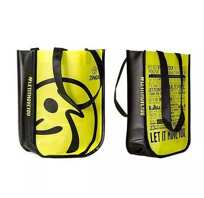 ZUMBA Fitness neon yellow/green Shopping Tote Gym Bag