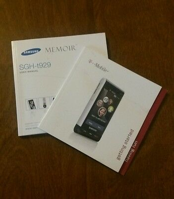 Samsung Memoir SGH-t929 User Manual and Get Started Manual English