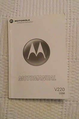 Motorola Moto manual V220 GSM User Manual English
