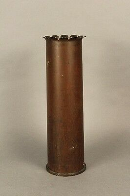 Antique Trench Art Artillery Shell Umbrella Stand Vintage Military War (10067)