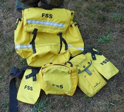 FSS Wildland Firefighter Pack w/ Harness, Belt, Accessory bags and Fire Shelter