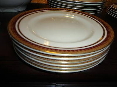 Vintage  Alfred Meakin England Fine China Maroon Gold Rim 6 Bread Butter Plate