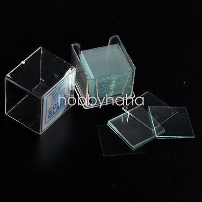 Microscope Slide Cover Slips 1 Boxes of 100 10mm x 10mm Square Cover Glasses
