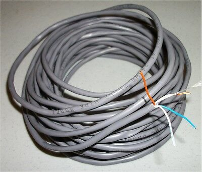 100' 24 Ga 4 Conductor Telephone Solid Wire Grey Jacket New