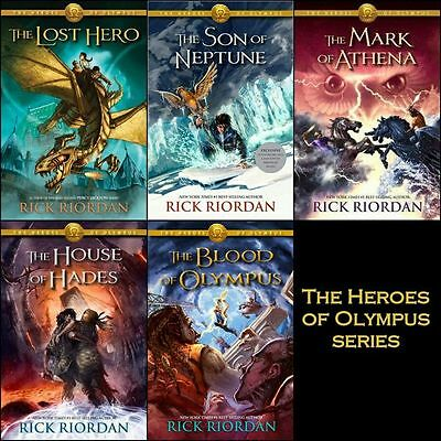 The Heroes of Olympus SERIES 1-5 BY Rick Riordan-AUDIOBOOK/MP3