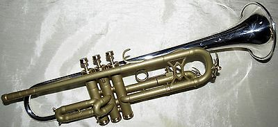 Totally Refurbished King Silvertone Liberty trumpet with mpc and NEW wood case