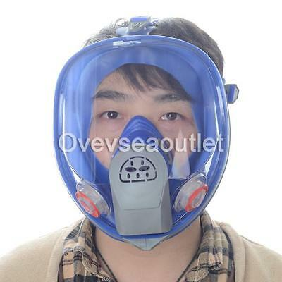 Silicone Gas Mask Full Face Facepiece Respirator Paint Spraying for 3M 6800