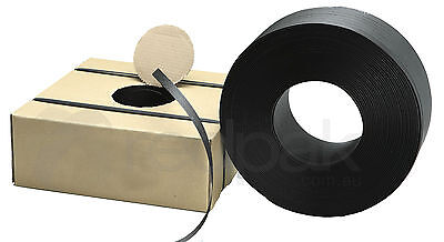 Poly (PP) Hand Strapping 19mm (width) x 1000m (length) Black  #11151