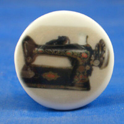 1 inch China Collectable Sewing Button -- Vintage Singer Sewing Machine