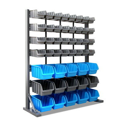 NEW 47 Bin Storage Shelving Rack Workshop Garage Warehouse Tools Parts Organiser
