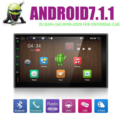 Android6.0  GPS Navi Double 2 DIN Car Auto Stereo WIFI 3G Bluetooth Radio CAM