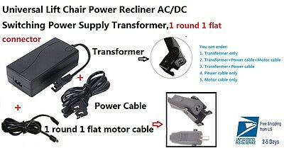 Ashley Okin Limoss Lift Chair electric recliner 29V 2A Power Supply Transformer